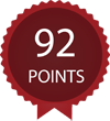 Score 92 points by Wine Enthusiast